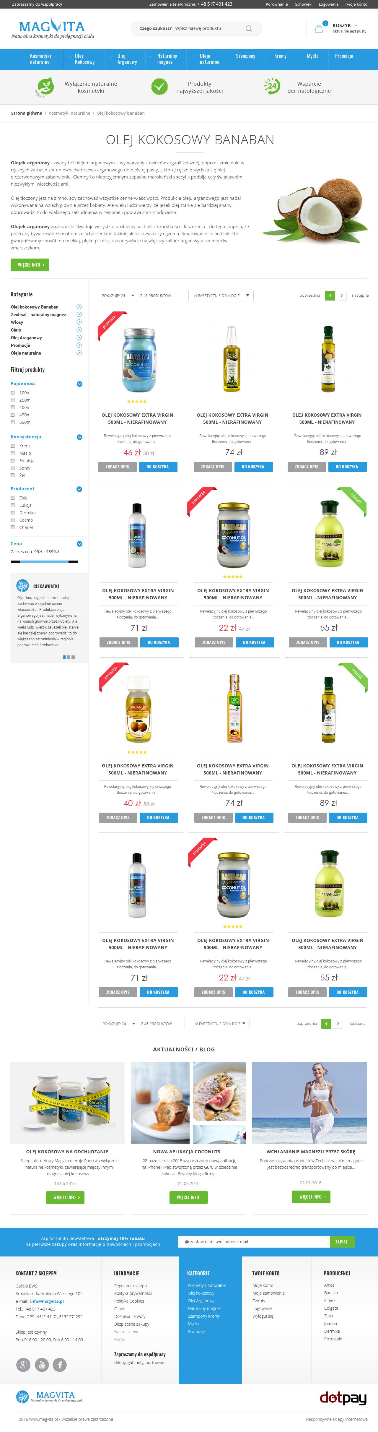 Sklep Internetowy Magvita Wy Cznie Naturalne Kosmetyki Sklep Internetowy Prestashop